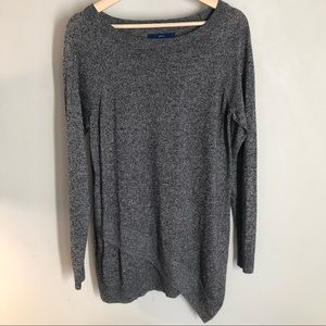APT .9 Charcoal Gray Long Sleeve Sweater